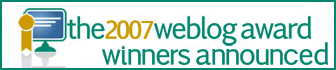 Based on 545,446 votes cast in 49 categories over six days of voting in early November 2007, here are the winners of the of The 2007 Weblog Awards
